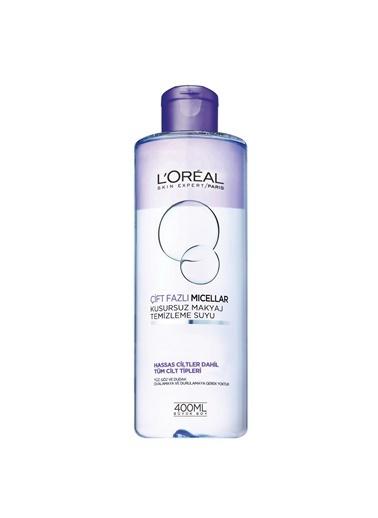 L'Oréal Paris Çift Fazlı Micellar Kusursuz Makyaj Temizleme Suyu Renksiz